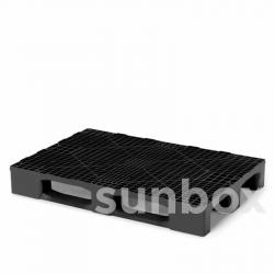 LOGISTIC plastic pallet with 3 deckboard 120x80cm